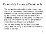 extensible instance documents