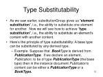 type substitutability
