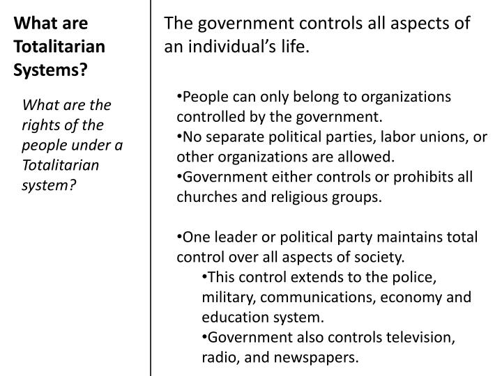What are Totalitarian Systems?