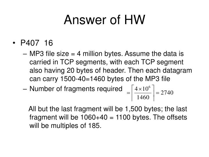 Answer of HW