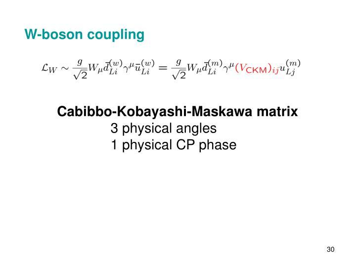 W-boson coupling