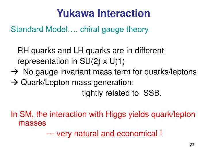 Yukawa Interaction
