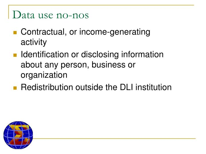 Data use no-nos