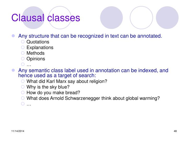 Clausal classes