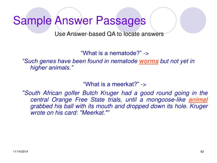 Sample Answer Passages