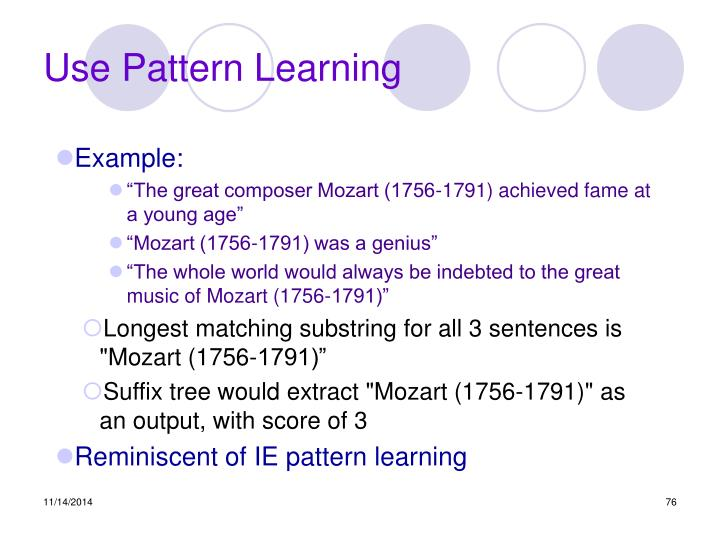 Use Pattern Learning