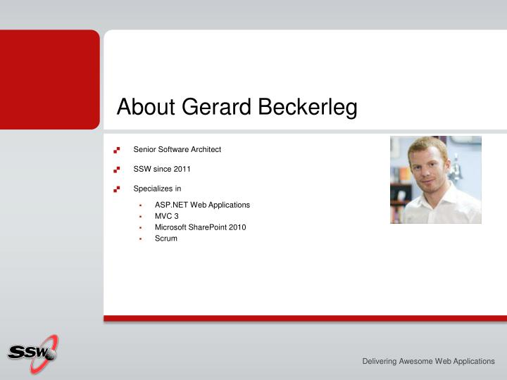 About gerard beckerleg