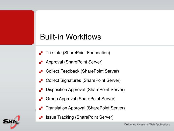 Built-in Workflows