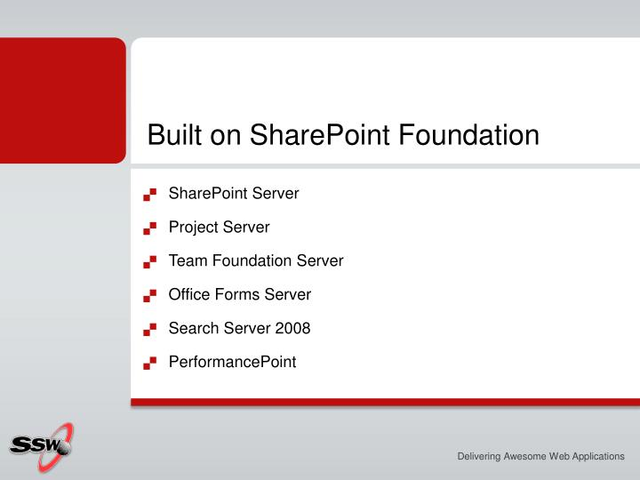 Built on SharePoint Foundation
