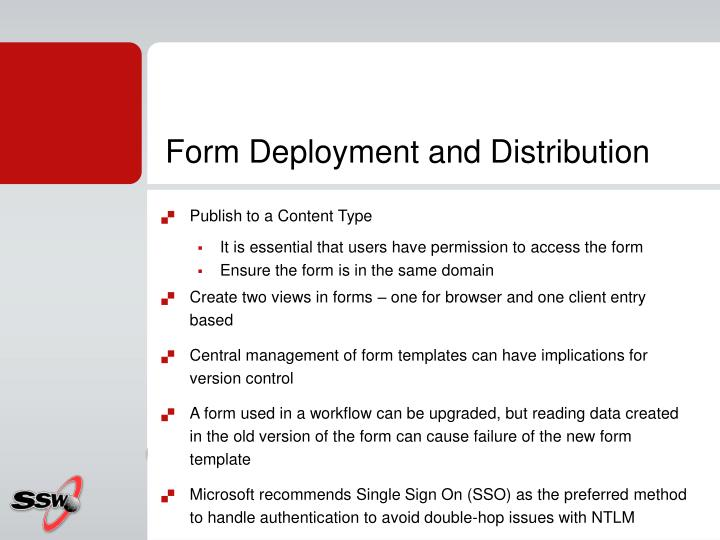 Form Deployment and Distribution