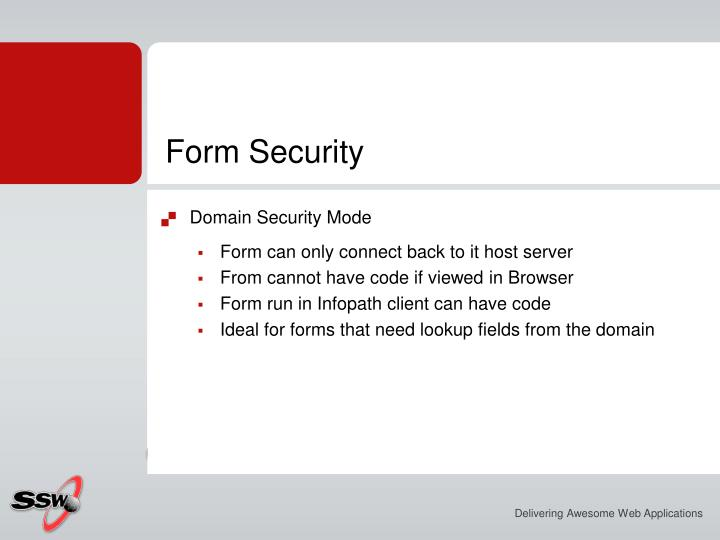 Form Security