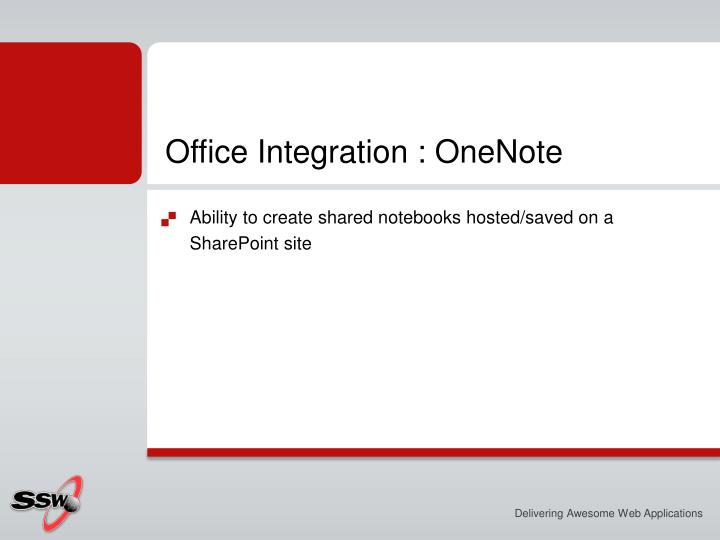 Office Integration :