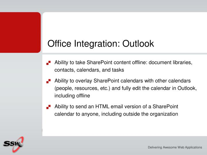 Office Integration: Outlook