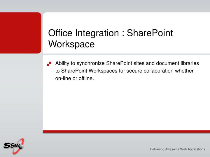 Office Integration : SharePoint