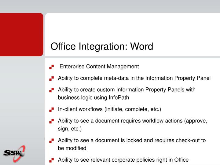 Office Integration: