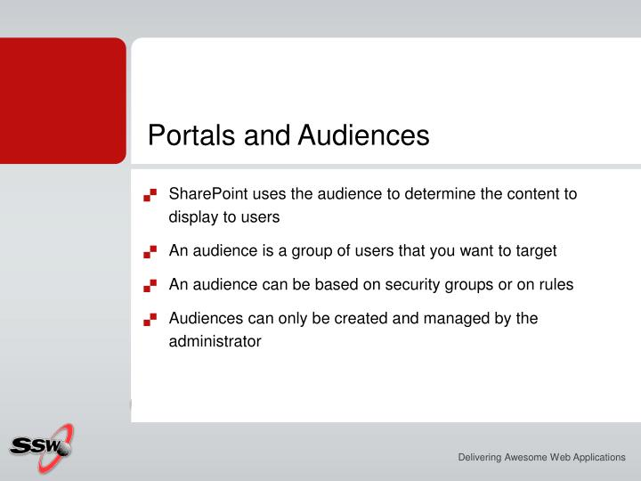 Portals and Audiences