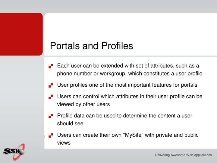 Portals and Profiles