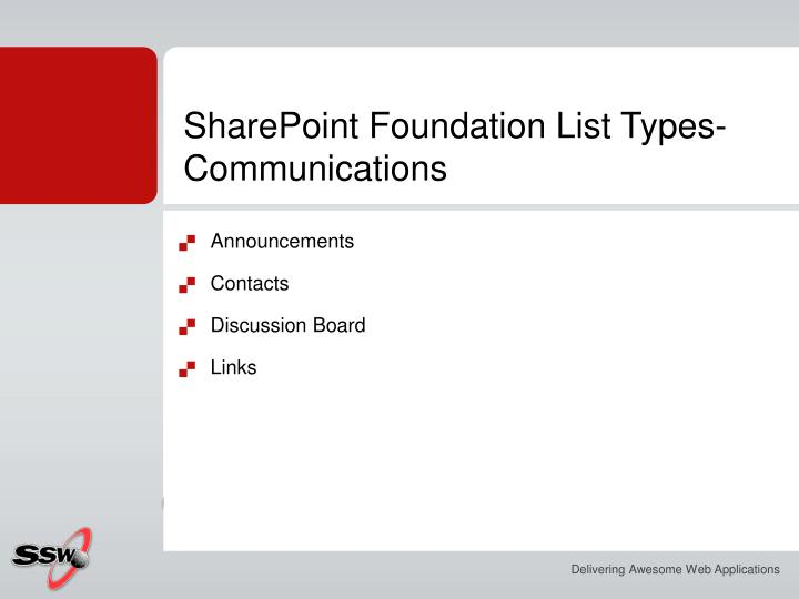 SharePoint Foundation