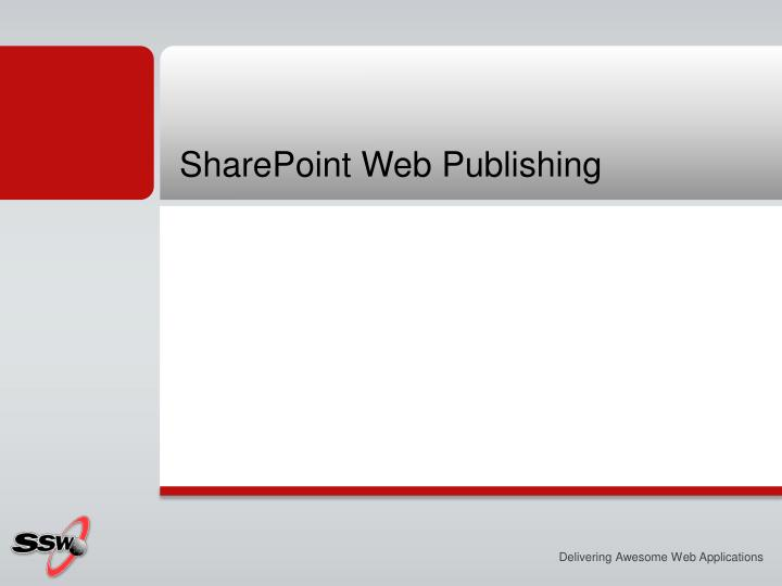 SharePoint Web Publishing