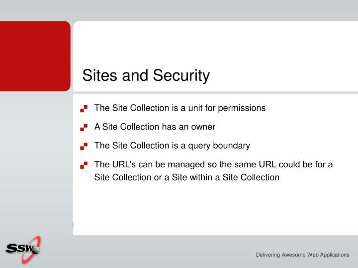 Sites and Security