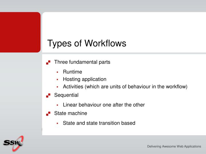 Types of Workflows