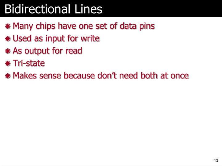 Bidirectional Lines