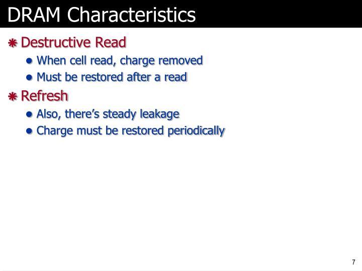 DRAM Characteristics