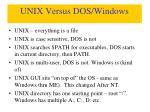 unix versus dos windows