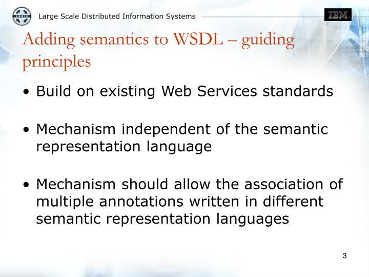 Adding semantics to wsdl guiding principles
