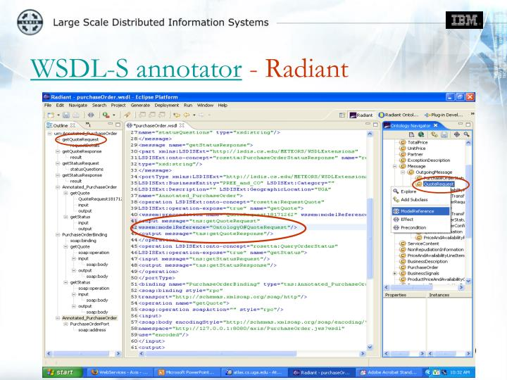 WSDL-S annotator