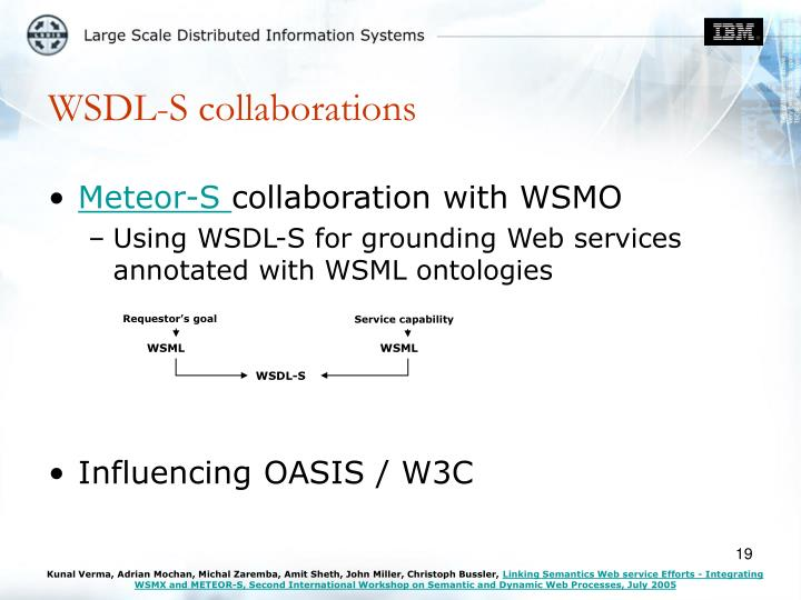 WSDL-S collaborations