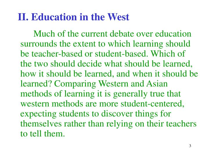 Ii education in the west