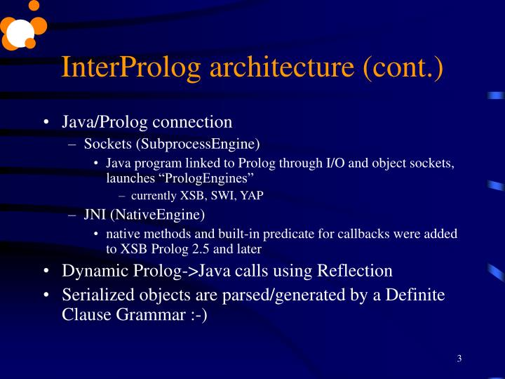 Interprolog architecture cont