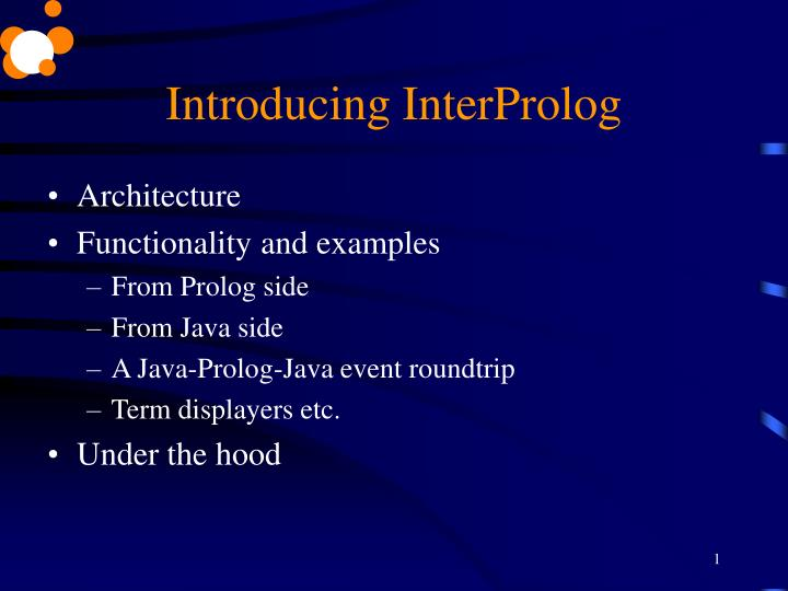 Introducing interprolog