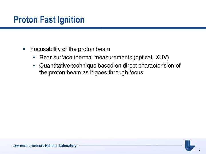 Proton fast ignition