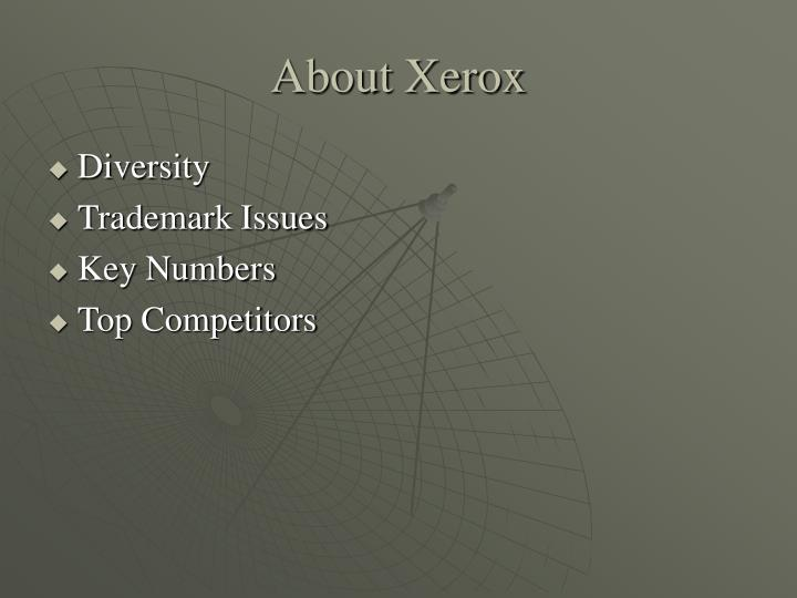 About Xerox