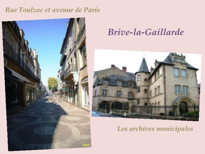 Rue Toulzac et avenue de Paris