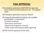 fsia approval
