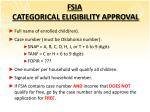 fsia categorical eligibility approval