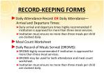 record keeping forms1