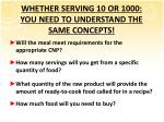 whether serving 10 or 1000 you need to understand the same concepts