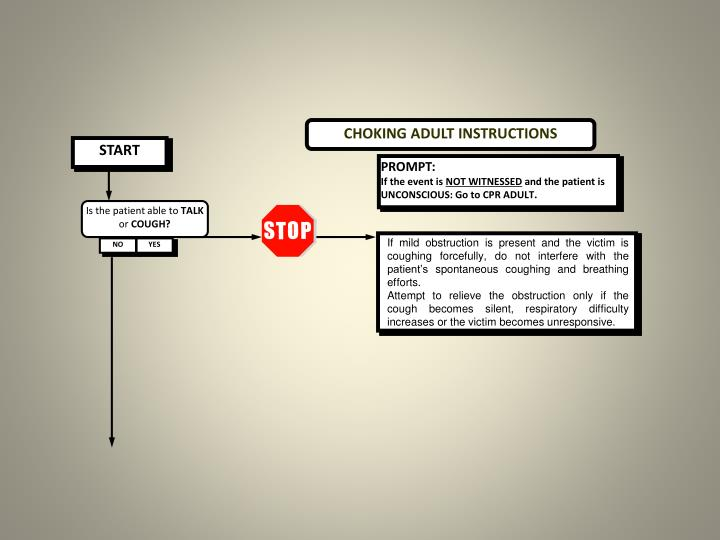 CHOKING ADULT INSTRUCTIONS