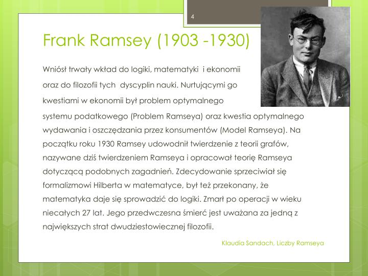 Frank Ramsey (1903 -1930)