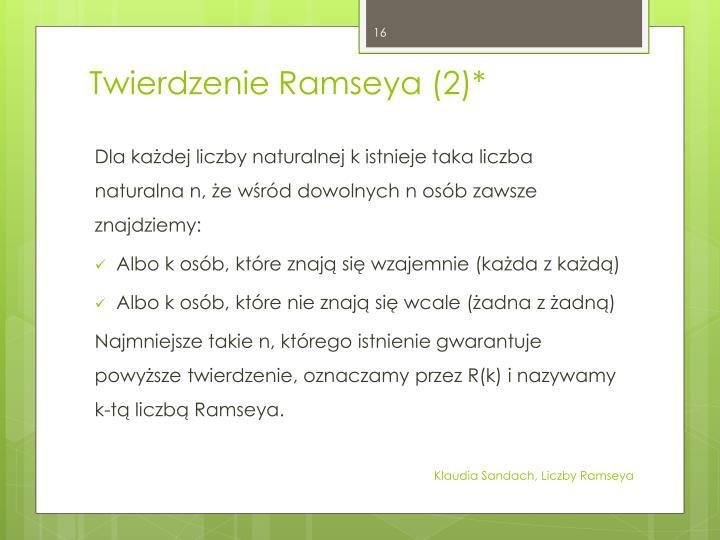 Twierdzenie Ramseya (2)*