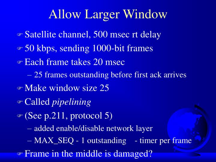 Allow Larger Window