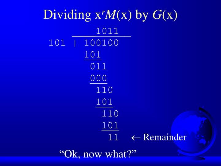Dividing x