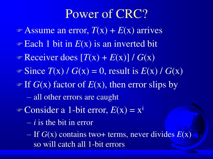 Power of CRC?