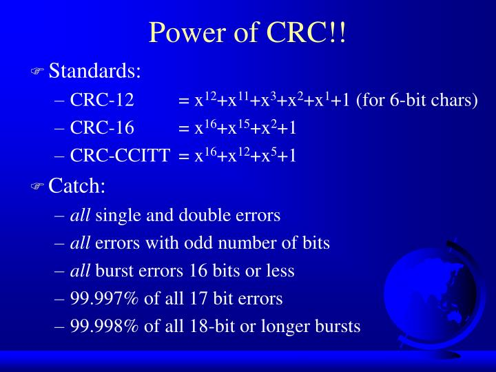 Power of CRC!!