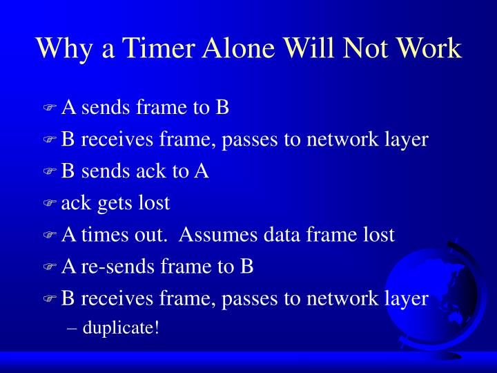 Why a Timer Alone Will Not Work