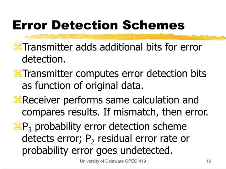 Error Detection Schemes